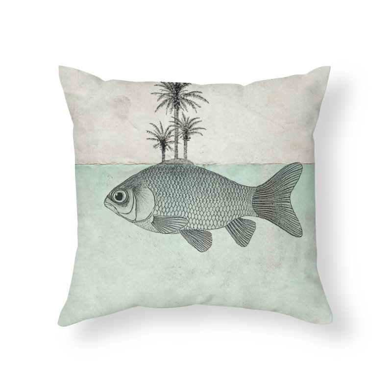 Paradise Goldfish Home Throw Pillow by Vin Zzep's Artist Shop