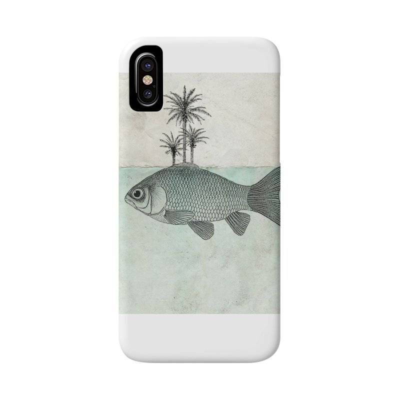 Paradise Goldfish Accessories Phone Case by Vin Zzep's Artist Shop