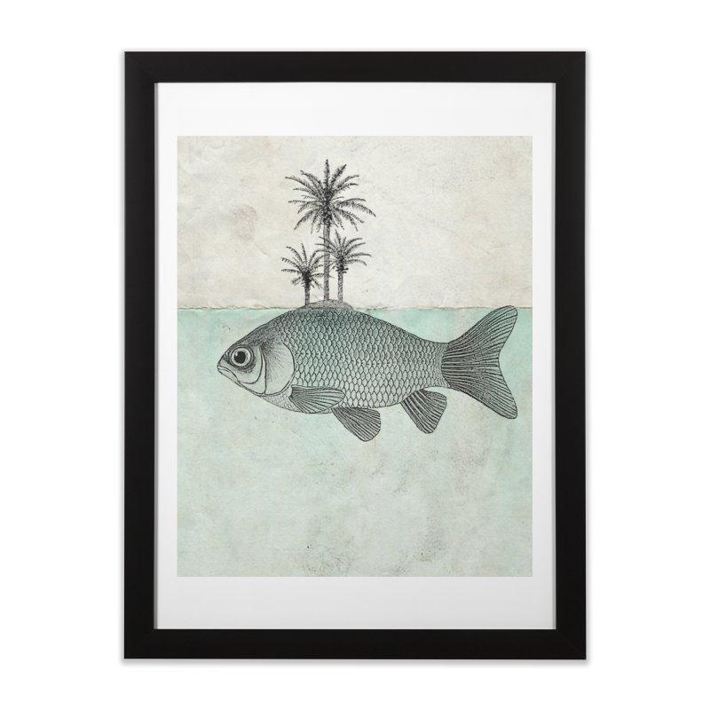 Paradise Goldfish Home Framed Fine Art Print by Vin Zzep's Artist Shop