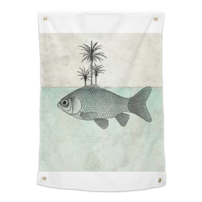 Paradise Goldfish Home Tapestry by Vin Zzep's Artist Shop