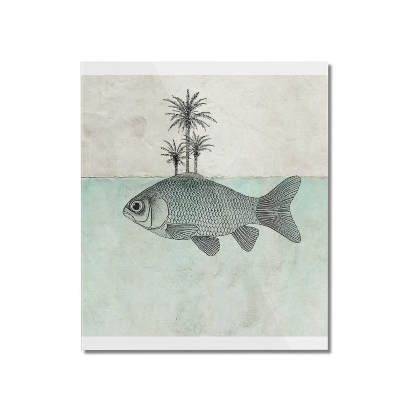 Paradise Goldfish Home Mounted Acrylic Print by Vin Zzep's Artist Shop
