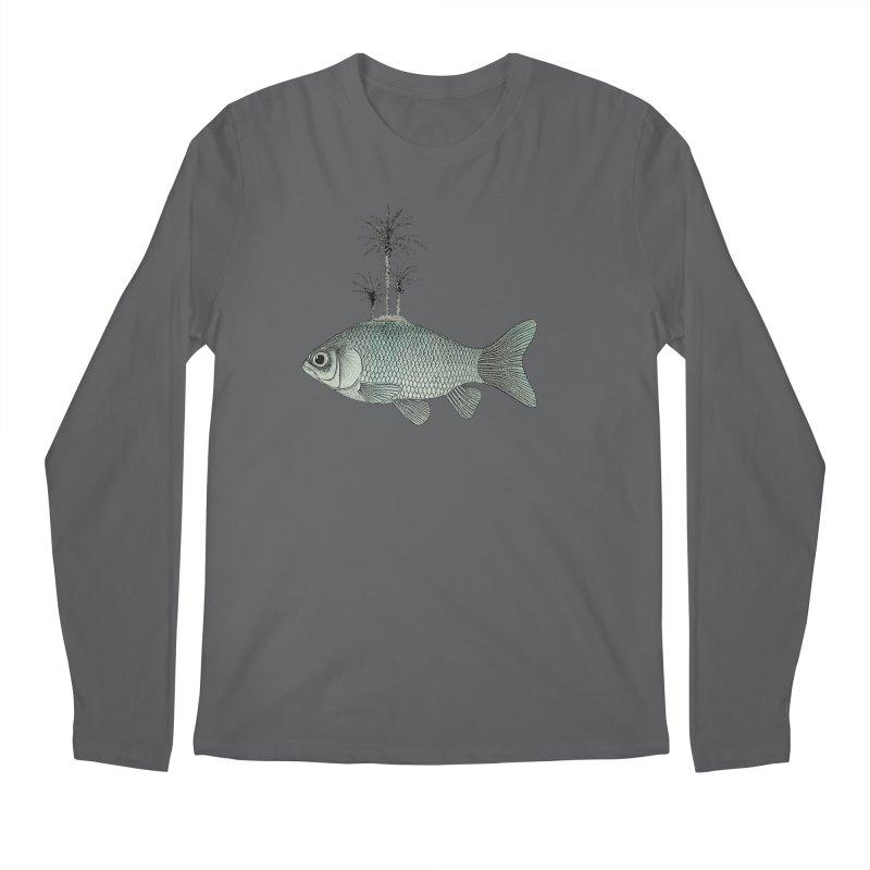 Paradise Goldfish Men's Longsleeve T-Shirt by Vin Zzep's Artist Shop