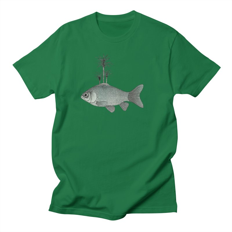 Paradise Goldfish Men's T-Shirt by Vin Zzep's Artist Shop