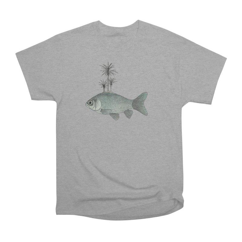 Paradise Goldfish Men's Heavyweight T-Shirt by Vin Zzep's Artist Shop