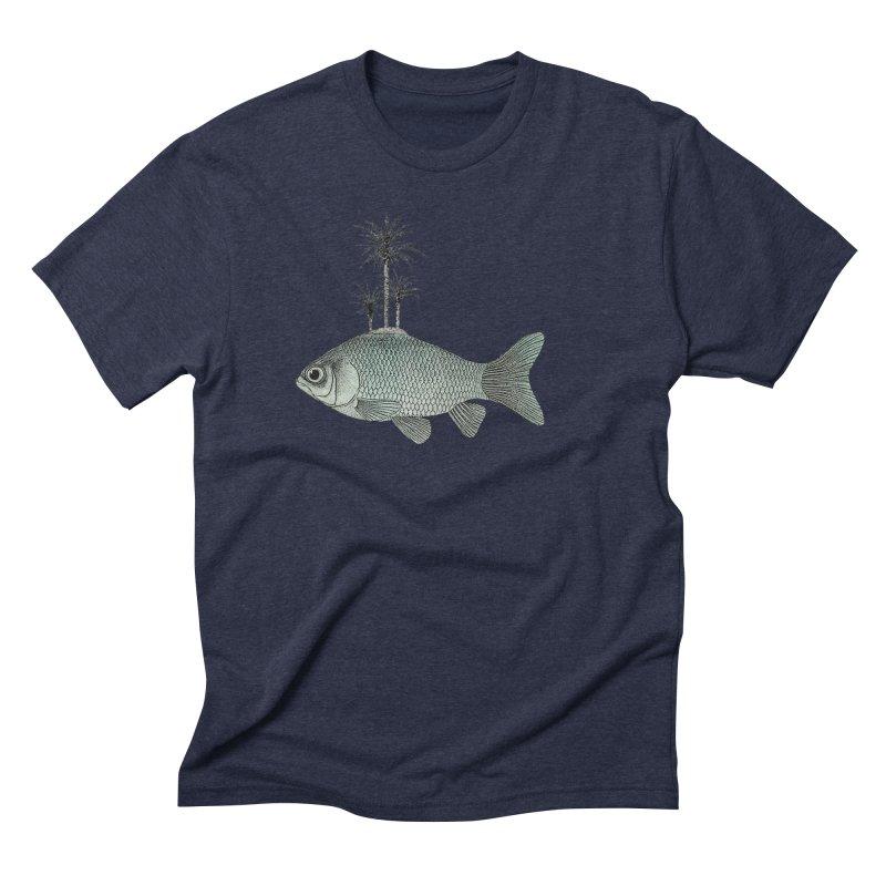 Paradise Goldfish Men's Triblend T-Shirt by Vin Zzep's Artist Shop