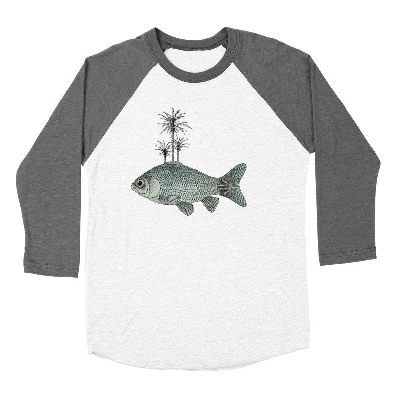Paradise Goldfish Men's Baseball Triblend T-Shirt by Vin Zzep's Artist Shop