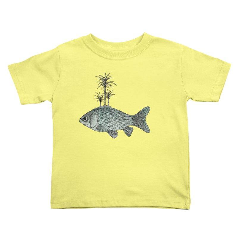 Paradise Goldfish Kids Toddler T-Shirt by Vin Zzep's Artist Shop