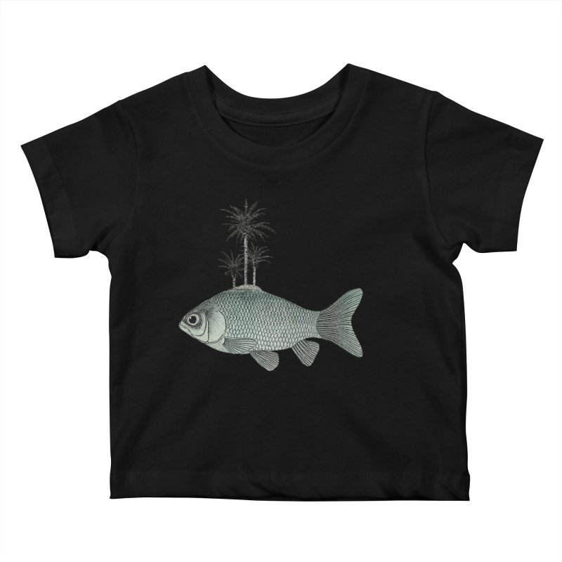Paradise Goldfish Kids Baby T-Shirt by Vin Zzep's Artist Shop