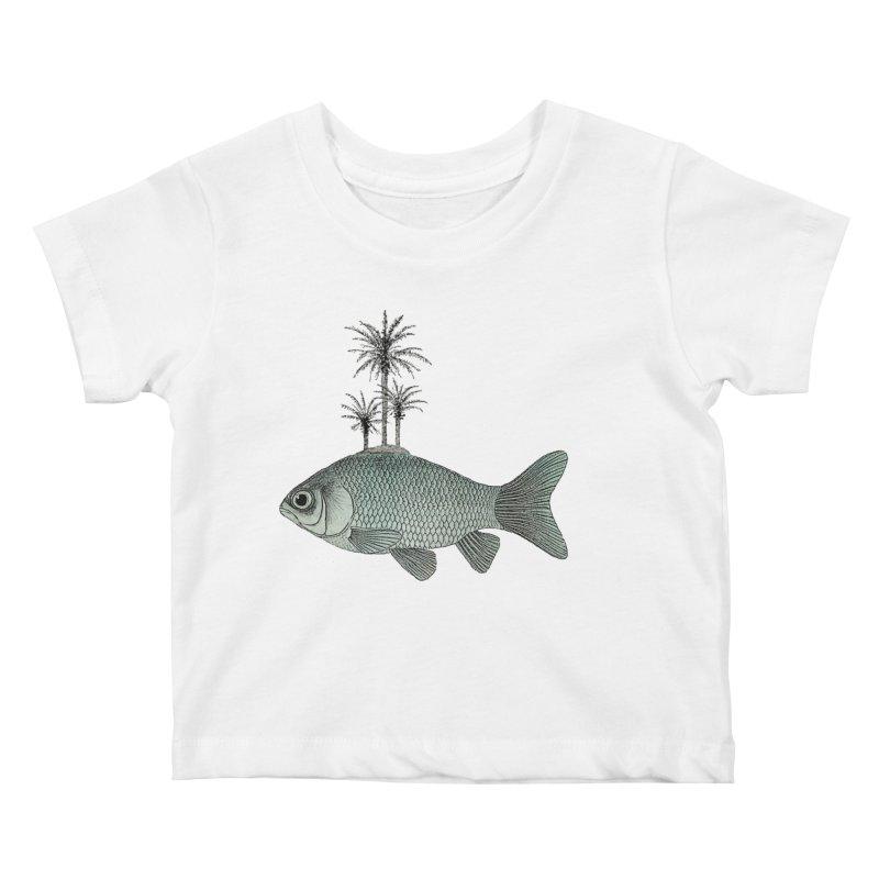 Paradise Goldfish Kids Baby T-Shirt by Vin Zzep's Artist Shop