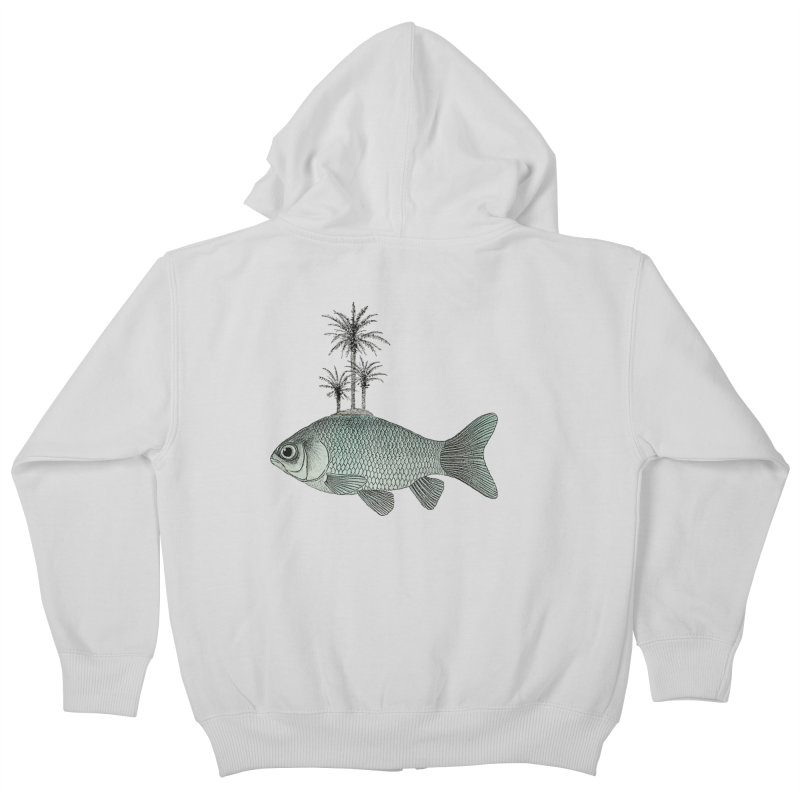 Paradise Goldfish Kids Zip-Up Hoody by Vin Zzep's Artist Shop