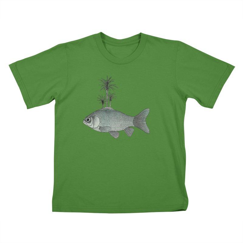 Paradise Goldfish Kids T-Shirt by Vin Zzep's Artist Shop