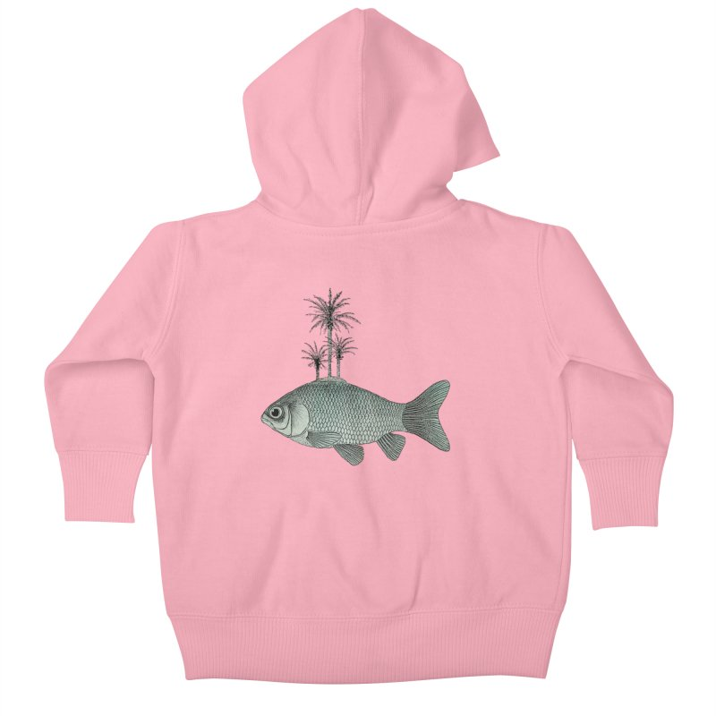 Paradise Goldfish Kids Baby Zip-Up Hoody by Vin Zzep's Artist Shop