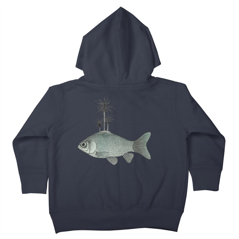 Paradise Goldfish Kids Toddler Zip-Up Hoody by Vin Zzep's Artist Shop