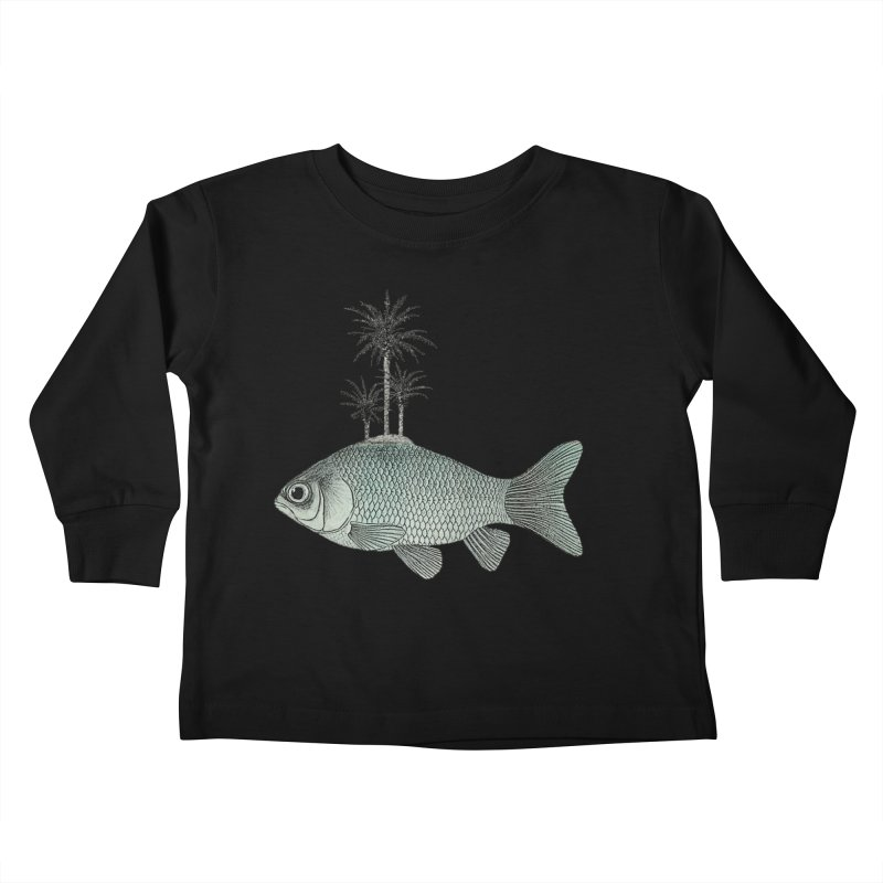 Paradise Goldfish Kids Toddler Longsleeve T-Shirt by Vin Zzep's Artist Shop
