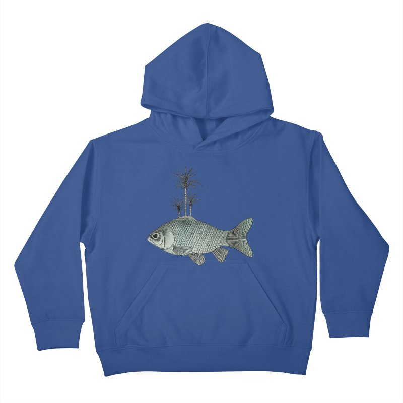 Paradise Goldfish Kids Pullover Hoody by Vin Zzep's Artist Shop