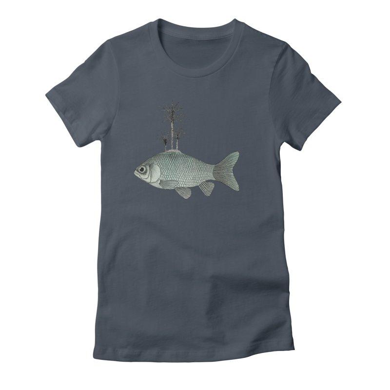 Paradise Goldfish Women's T-Shirt by Vin Zzep's Artist Shop