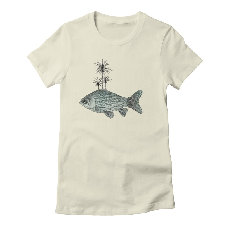 Paradise Goldfish Women's Fitted T-Shirt by Vin Zzep's Artist Shop