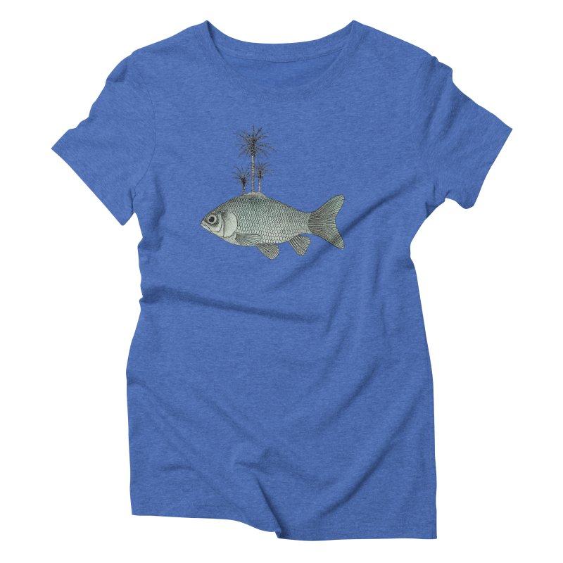 Paradise Goldfish Women's Triblend T-Shirt by Vin Zzep's Artist Shop
