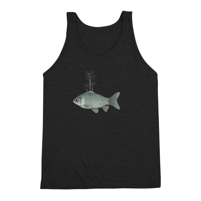 Paradise Goldfish Men's Triblend Tank by Vin Zzep's Artist Shop