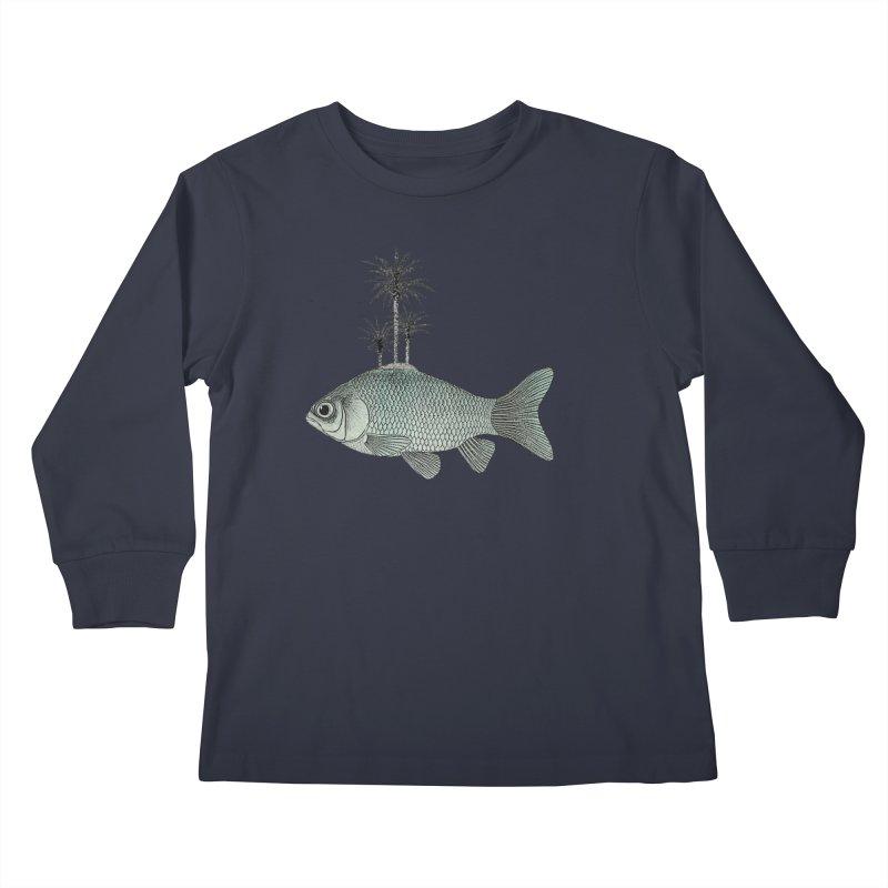 Paradise Goldfish Kids Longsleeve T-Shirt by Vin Zzep's Artist Shop