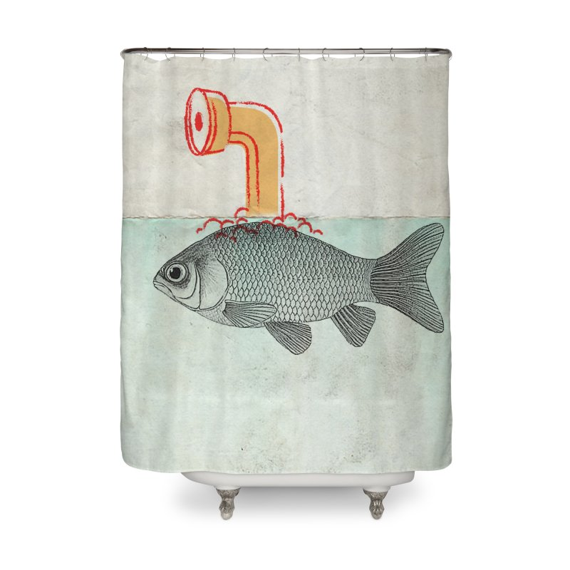Periscope Goldfish Home Shower Curtain by Vin Zzep's Artist Shop