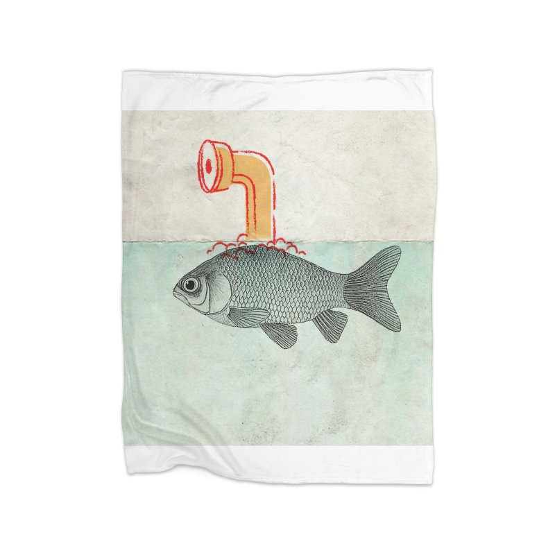 Periscope Goldfish Home Blanket by Vin Zzep's Artist Shop