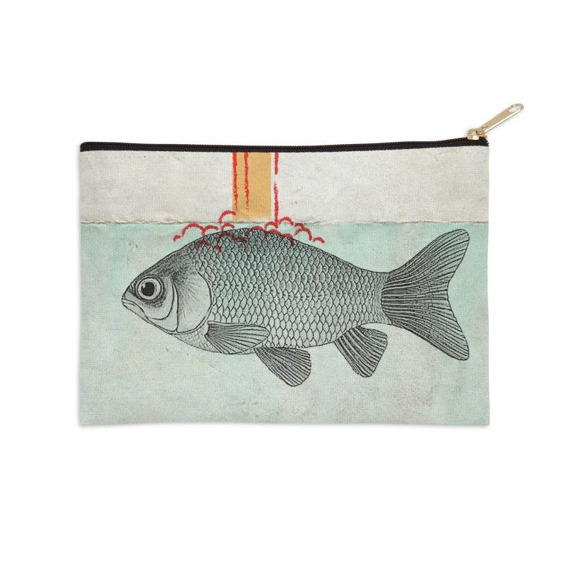 Periscope Goldfish Accessories Zip Pouch by Vin Zzep's Artist Shop