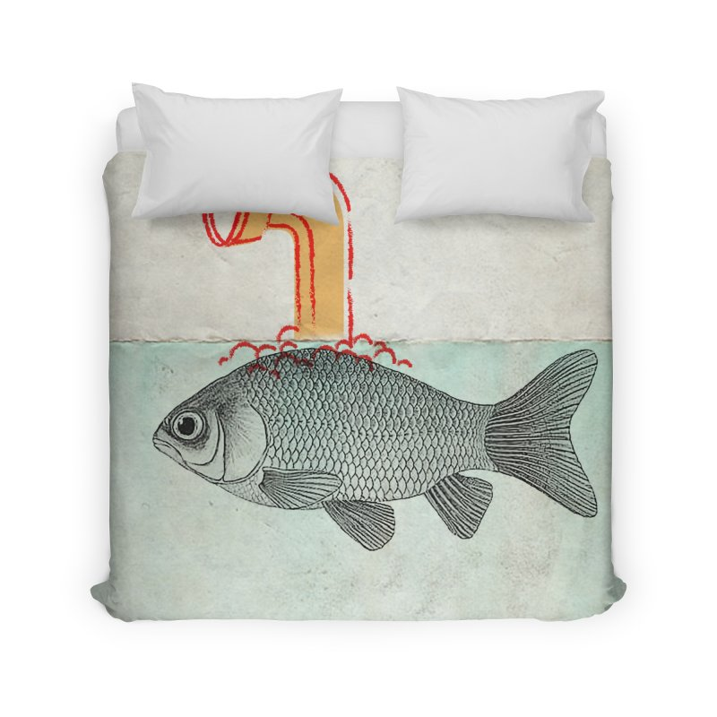 Periscope Goldfish Home Duvet by Vin Zzep's Artist Shop