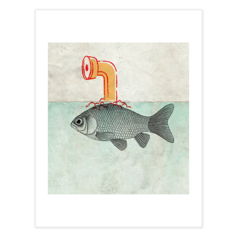 Periscope Goldfish Home Fine Art Print by Vin Zzep's Artist Shop