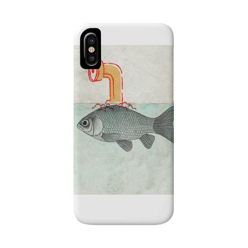 Periscope Goldfish Accessories Phone Case by Vin Zzep's Artist Shop