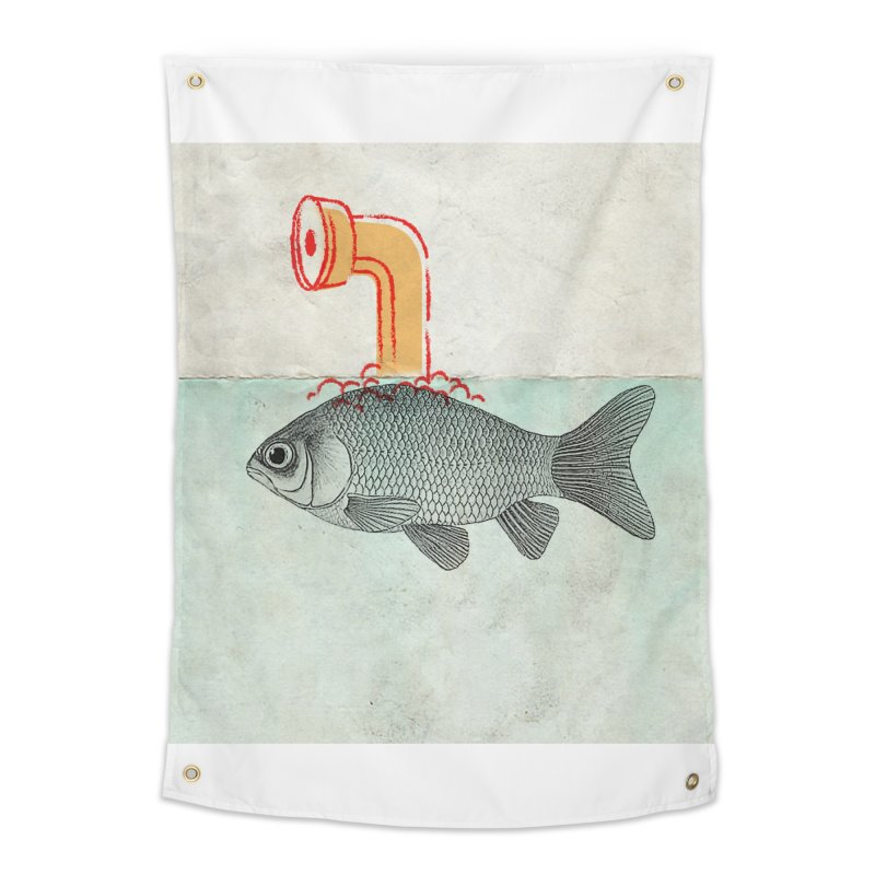 Periscope Goldfish Home Tapestry by Vin Zzep's Artist Shop