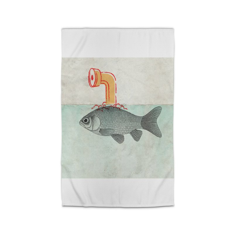 Periscope Goldfish Home Rug by Vin Zzep's Artist Shop