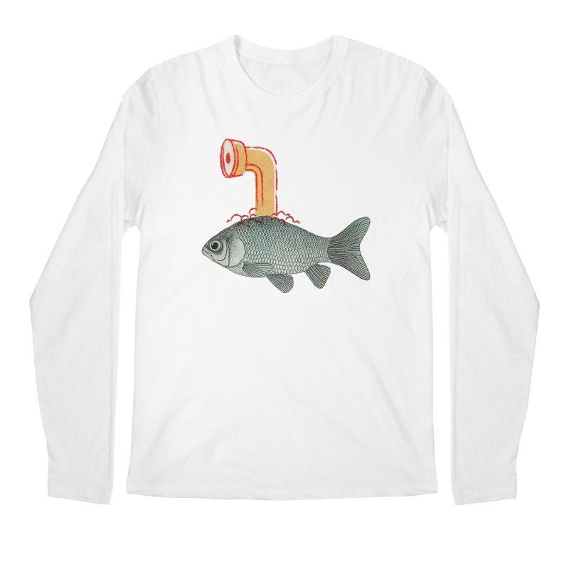 Periscope Goldfish Men's Longsleeve T-Shirt by Vin Zzep's Artist Shop