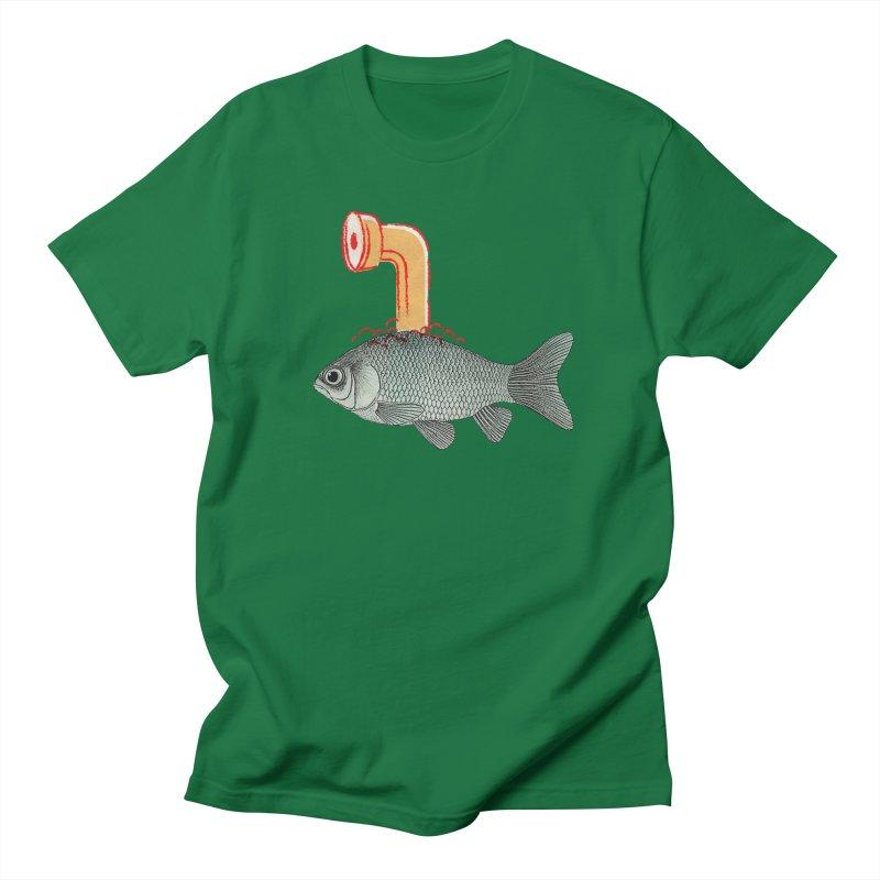 Periscope Goldfish Men's T-Shirt by Vin Zzep's Artist Shop