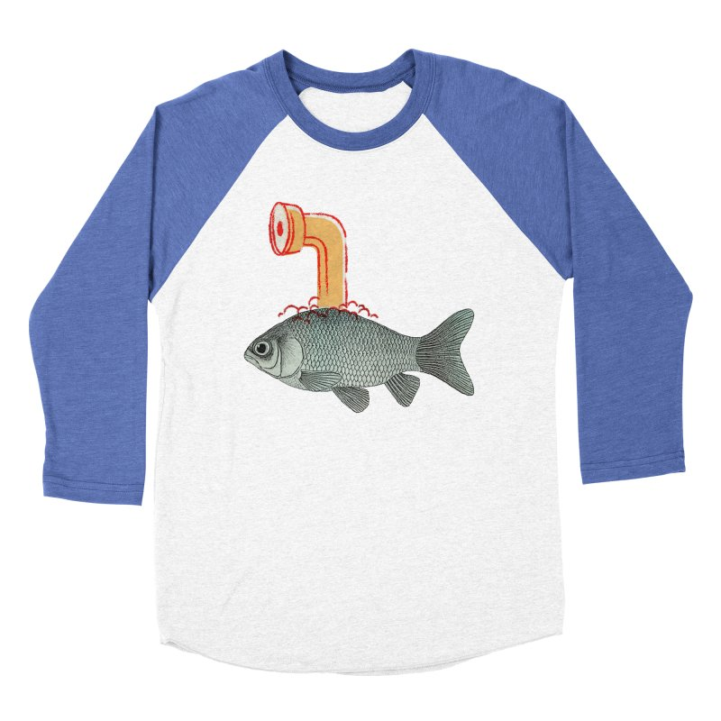 Periscope Goldfish Women's Baseball Triblend T-Shirt by Vin Zzep's Artist Shop