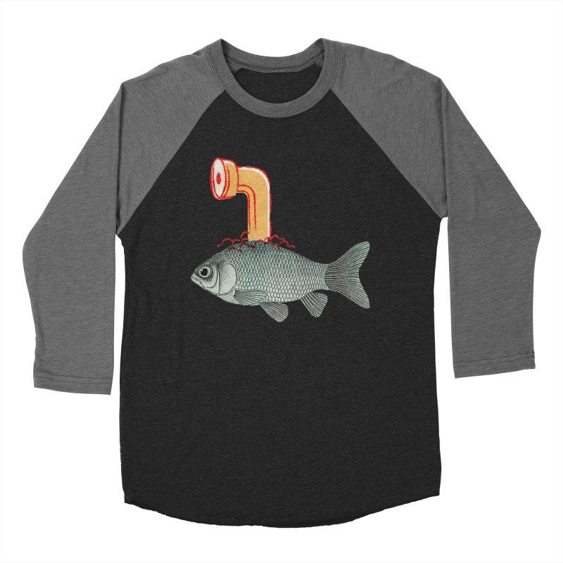 Periscope Goldfish Women's Baseball Triblend T-Shirt by Vin Zzep's Artist Shop