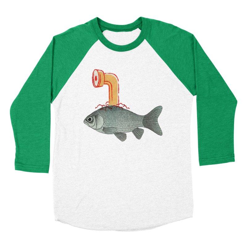Periscope Goldfish Men's Baseball Triblend T-Shirt by Vin Zzep's Artist Shop