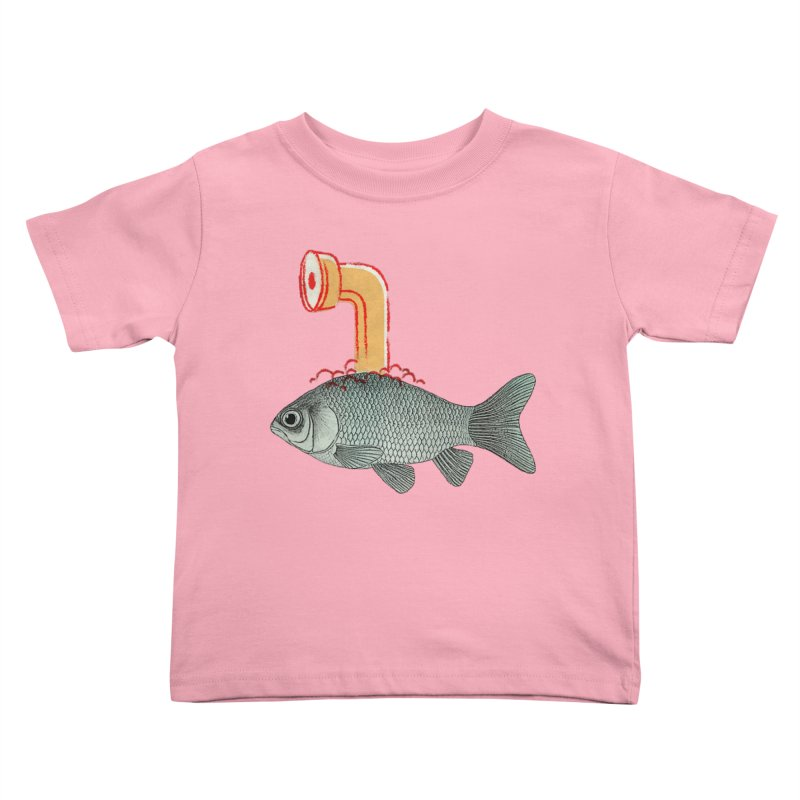 Periscope Goldfish Kids Toddler T-Shirt by Vin Zzep's Artist Shop
