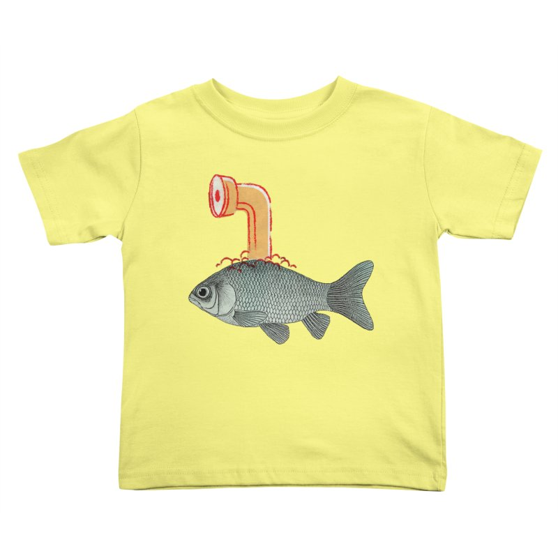 Periscope Goldfish Kids Toddler T-Shirt by Vin Zzep's Artist Shop