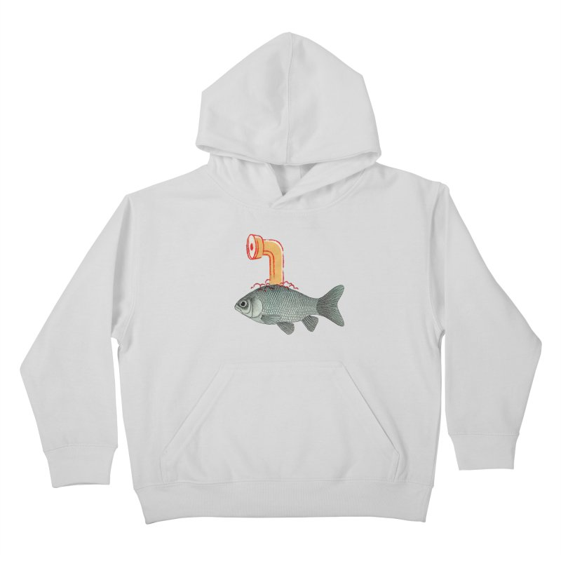 Periscope Goldfish Kids Pullover Hoody by Vin Zzep's Artist Shop