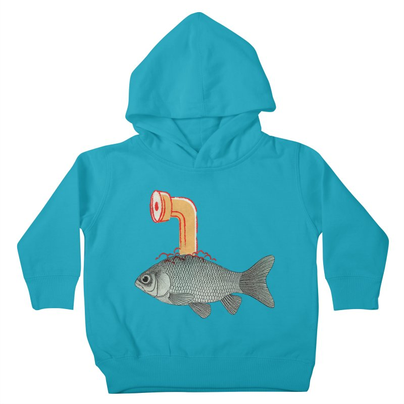 Periscope Goldfish Kids Toddler Pullover Hoody by Vin Zzep's Artist Shop