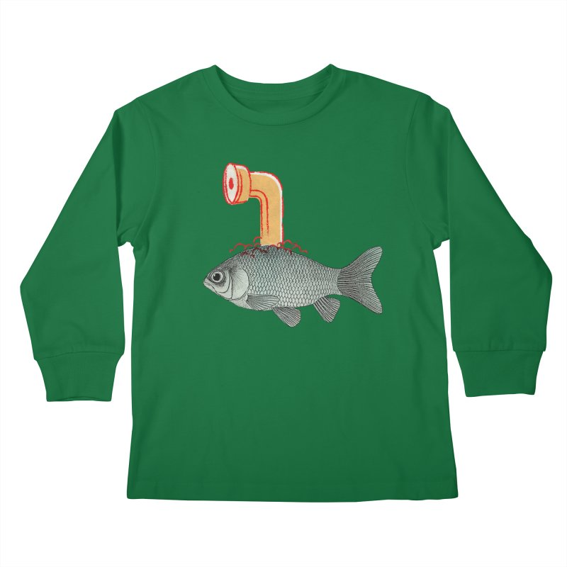 Periscope Goldfish Kids Longsleeve T-Shirt by Vin Zzep's Artist Shop