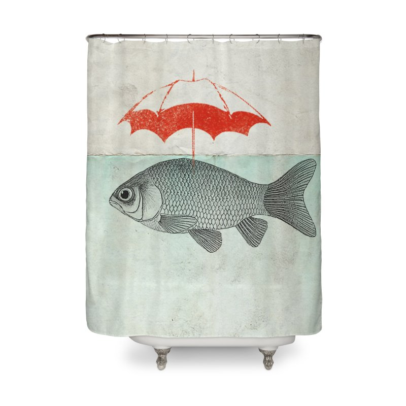 Umbrella Goldfish Home Shower Curtain by Vin Zzep's Artist Shop