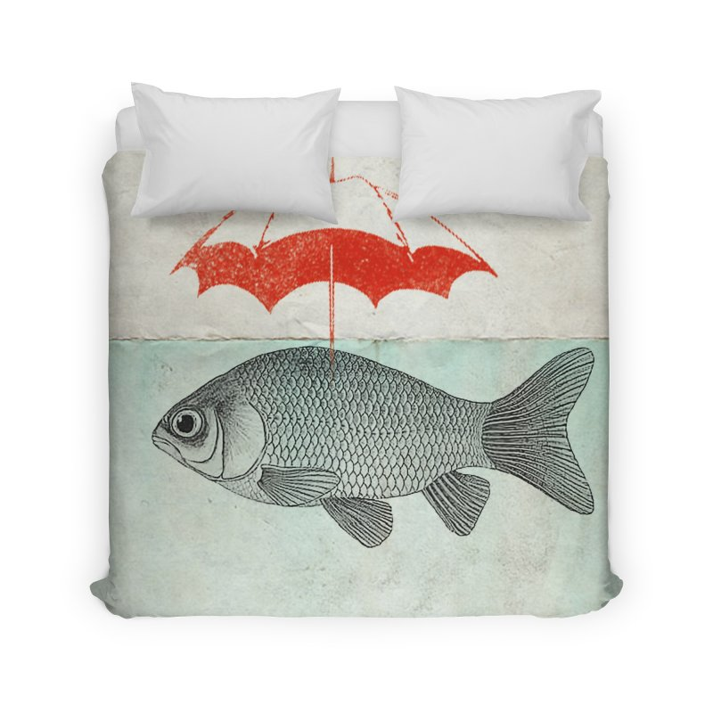 Umbrella Goldfish Home Duvet by Vin Zzep's Artist Shop