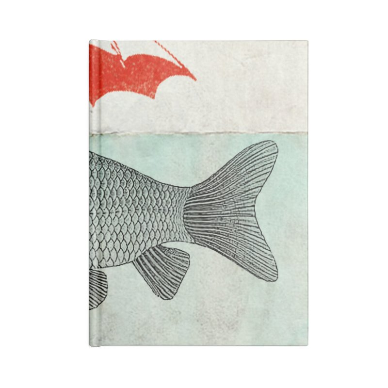 Umbrella Goldfish Accessories Notebook by Vin Zzep's Artist Shop