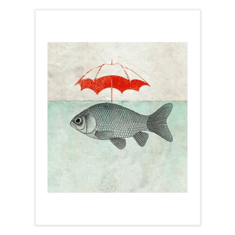 Umbrella Goldfish Home Fine Art Print by Vin Zzep's Artist Shop