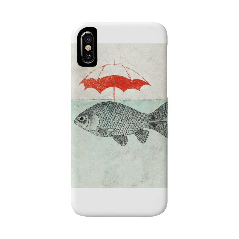 Umbrella Goldfish Accessories Phone Case by Vin Zzep's Artist Shop