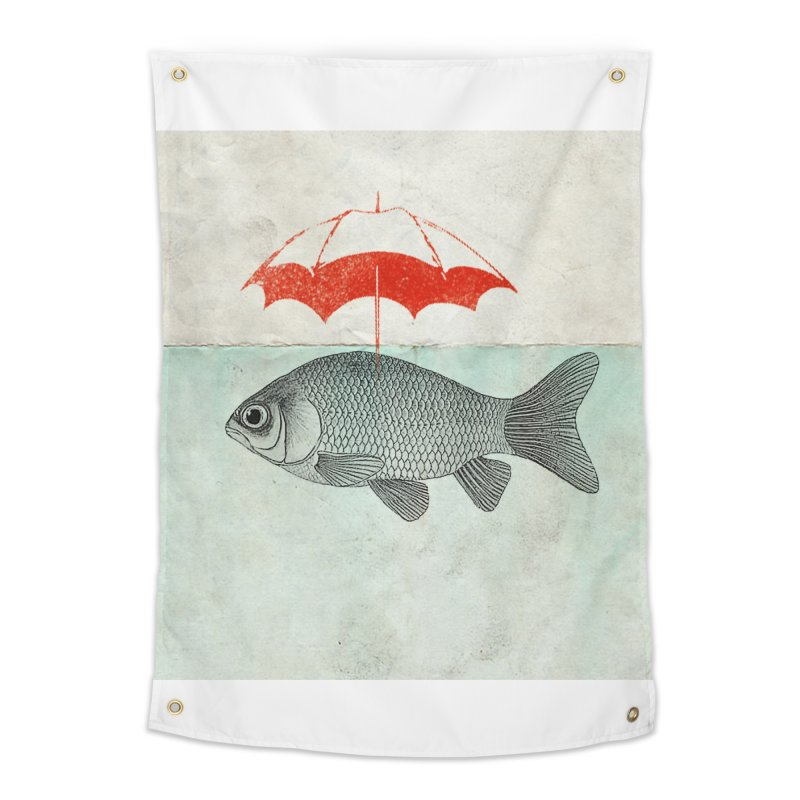 Umbrella Goldfish Home Tapestry by Vin Zzep's Artist Shop