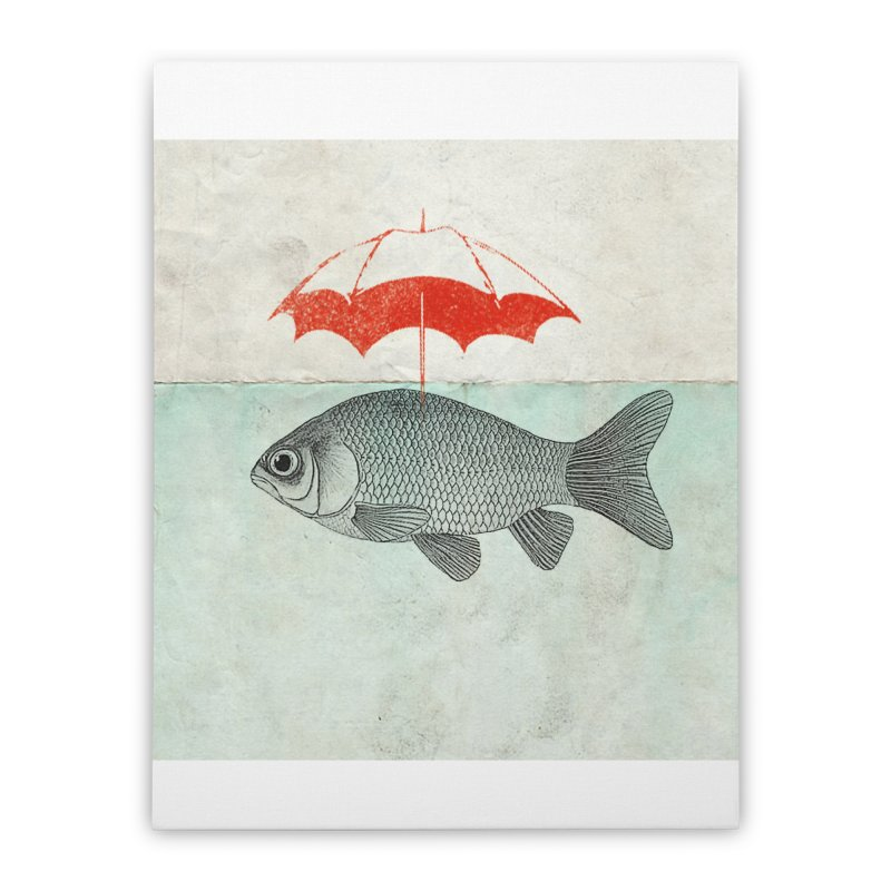 Umbrella Goldfish Home Stretched Canvas by Vin Zzep's Artist Shop