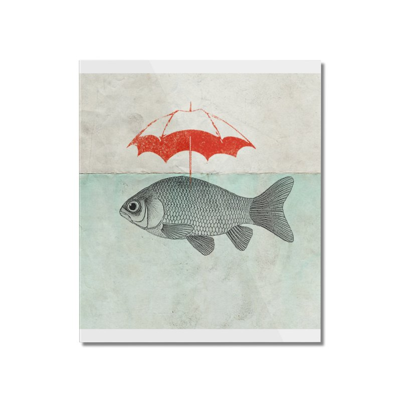 Umbrella Goldfish Home Mounted Acrylic Print by Vin Zzep's Artist Shop